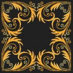 Cross stitch pattern - Pillow - Golden arabesque