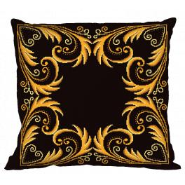 ZU 8998-01 Cross stitch kit - Pillow - Golden arabesque