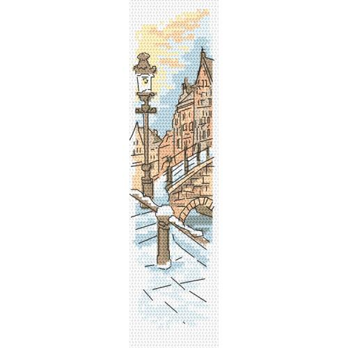 Cross stitch pattern - Bookmark - Bridge of lovers
