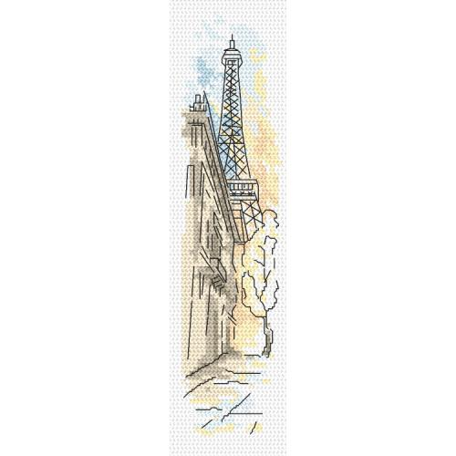 Cross stitch pattern - Bookmark - Greetings from Paris