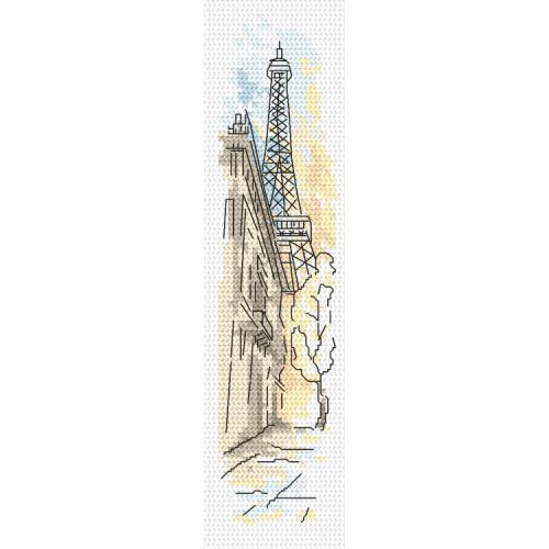Cross stitch kit - Bookmark - Greetings from Paris
