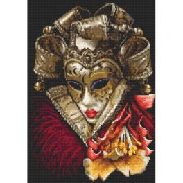 Kit with tapestry and mouline - Carnival mask