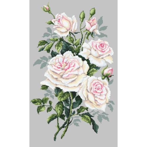 GC 10242 Cross stitch pattern - White roses