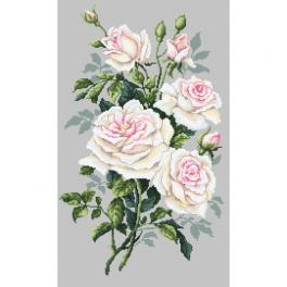 Kit with tapestry and mouline - White roses
