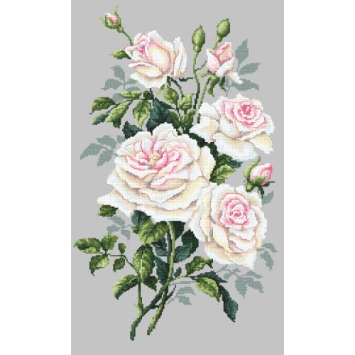 Cross stitch kit - White roses