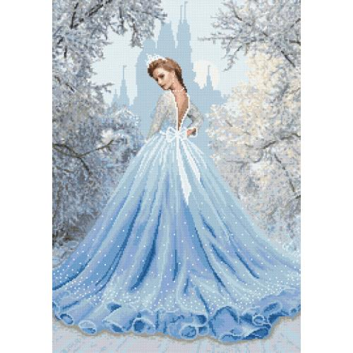 Kit with tapestry and mouline - Snow lady