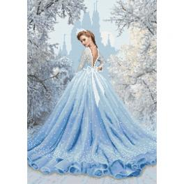 Cross stitch kit - Snow lady
