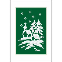 Cross stitch kit - Christmas card - Church