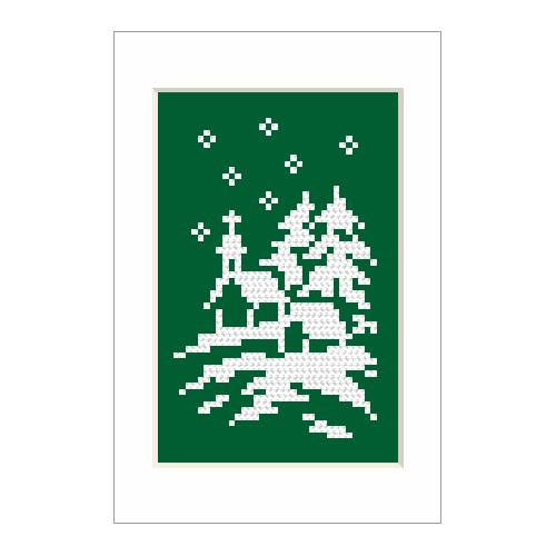 Cross stitch kit - Christmas card - Church
