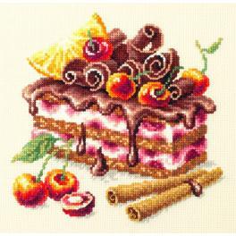 Cross stitch kit - Cherry cake