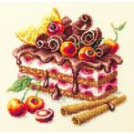 Cross stitch kit - Cherry cake