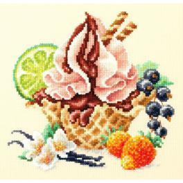 MN 120-071 Cross stitch kit - Vanilla ice cream