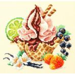Cross stitch kit - Vanilla ice cream