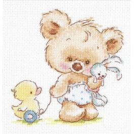 Cross stitch kit - My toys
