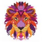 W 10604 Pattern ONLINE - Colourful lion