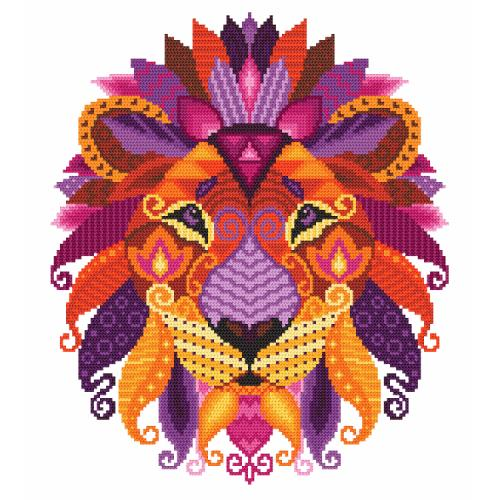 Tapestry canvas - Colourful lion