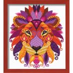 Kit with tapestry and mouline - Colourful lion