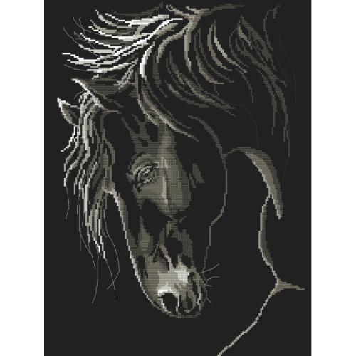 Graphic pattern - Stately horse