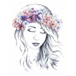 GC 10247 Cross stitch pattern - Winter lady