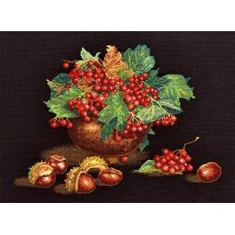 Cross stitch kit - Autumn blues