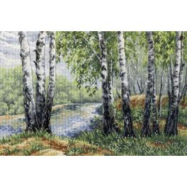 Cross stitch kit - In the birch shadow