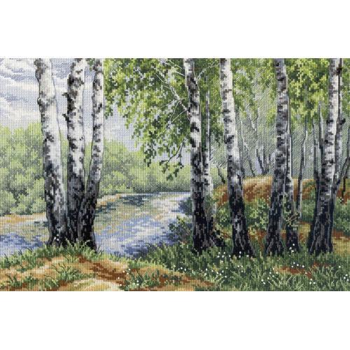 Cross stitch kit - In the birch shadow