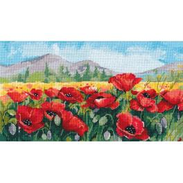 Cross stitch kit - Poppies