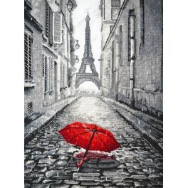 Cross stitch kit - Rain in Paris