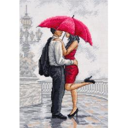 OV 780 Cross stitch kit - In rain's arms