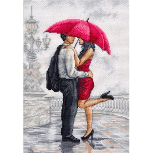 Cross stitch kit - In rain's arms
