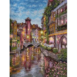 Cross stitch kit - La riviere