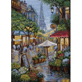 Cross stitch kit - Rainy Paris