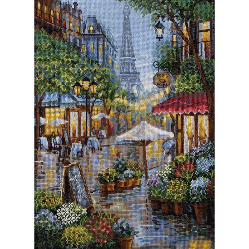 Cross stitch kit - Rainy Paris