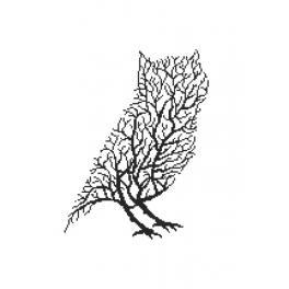 Pattern ONLINE - Black owl