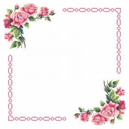 Pattern online - Tablecloth with romantic roses