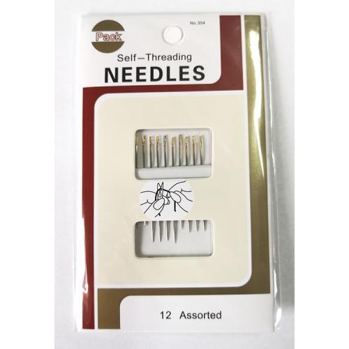 Self-threading needles 12 pcs