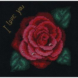 Cross stitch kit - Rose