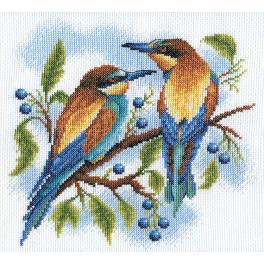 PAPS 0429 Cross stitch kit - Bright birds
