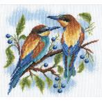 Cross stitch set - Bright birds