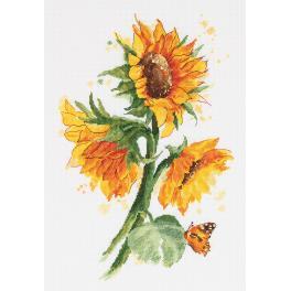 PAC 7136 Cross stitch set - Bright sunflowers