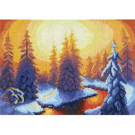 Cross stitch set - Hot springs