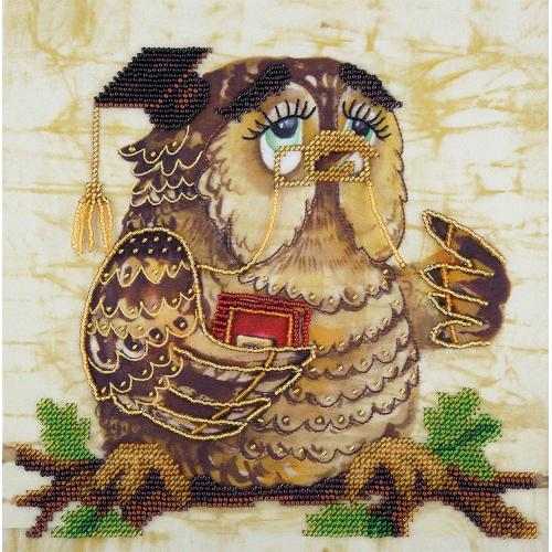 Set with beads - Wise owl