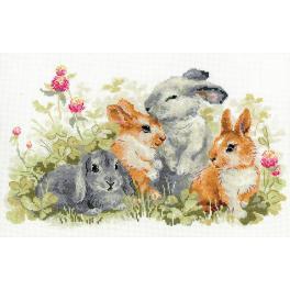 RIO 1416 Cross stitch kit - Funny bunnies
