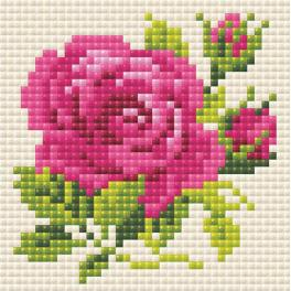 RIO AM0031 Diamond painting kit - Pink rose