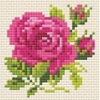 Diamond painting kit - Pink rose