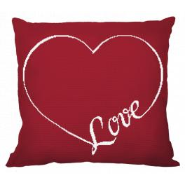 ZU 10613-01 Cross stitch kit - Pillow - Love