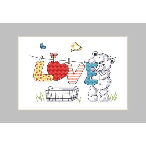 GU 10261-02 Cross stitch pattern - Postcard - Teddy bear washing