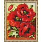 M AZ-1135 Diamond painting kit - Bright poppies
