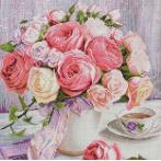 M AZ-1696 Diamond painting kit - Peonies and roses