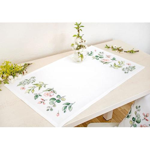 Cross stitch kit - Napkin with leaves
